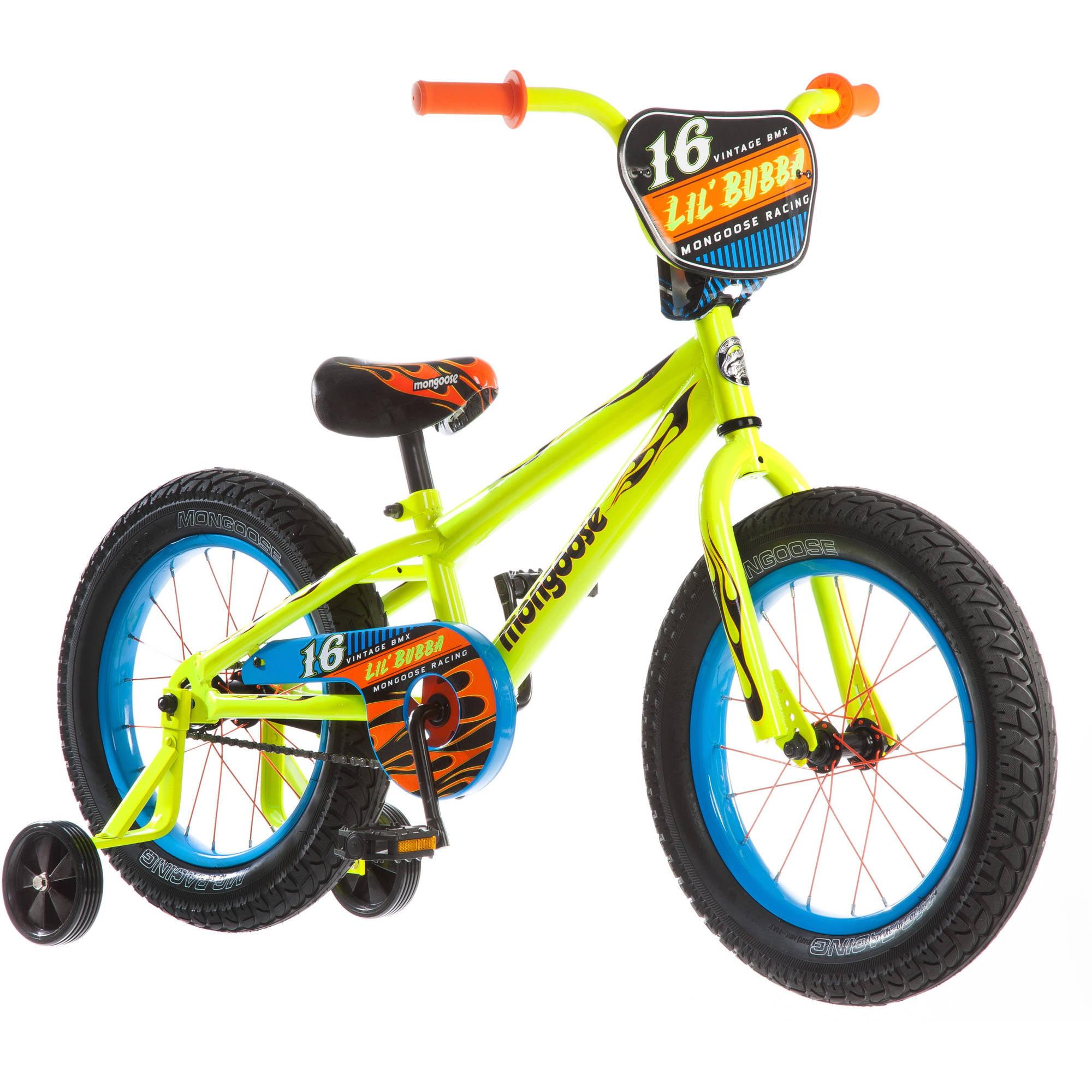 "16"" Mongoose Lil Bubba Boys' Fat Tire Bike, Neon Yellow"