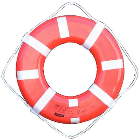 Cal June 24 G Style Life Ring w/Straps and Reflective Tape GO24T Cal June Horseshoe Buoy