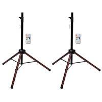 (2) Gemini STL-100 Tripod DJ Karaoke Speaker Stands w/Customizable LED's+Remote