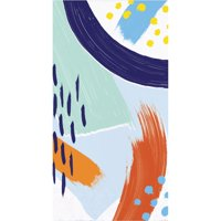 """Club Pack of 192 Denim Blue and Orange 3-Ply Art Class Rectangular Guest Towels 15.5"""""""