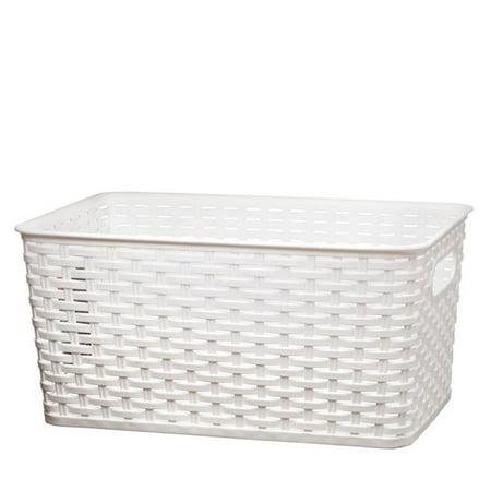 Nua Gifts 426 - W Big Rattan Storage Basket, 15.88 x 10 x 7.5 in. -