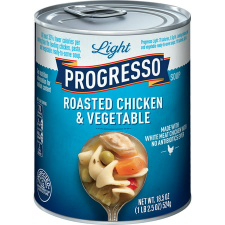 Progresso Light Roasted Chicken and Vegetable Soup, 18.5 oz