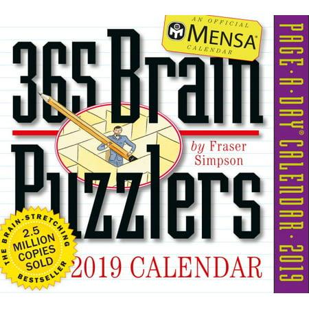 Mensa 365 Brain Puzzlers 2019 Calendar - Halloween Countdown Calendar Craft