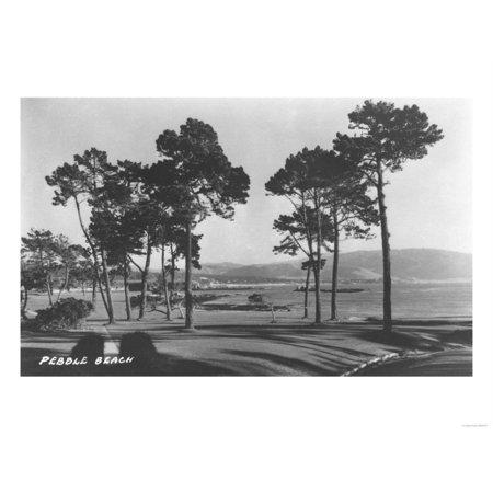 Pebble Beach, CA - Golf Course Coast View Photograph Print Wall Art By Lantern Press
