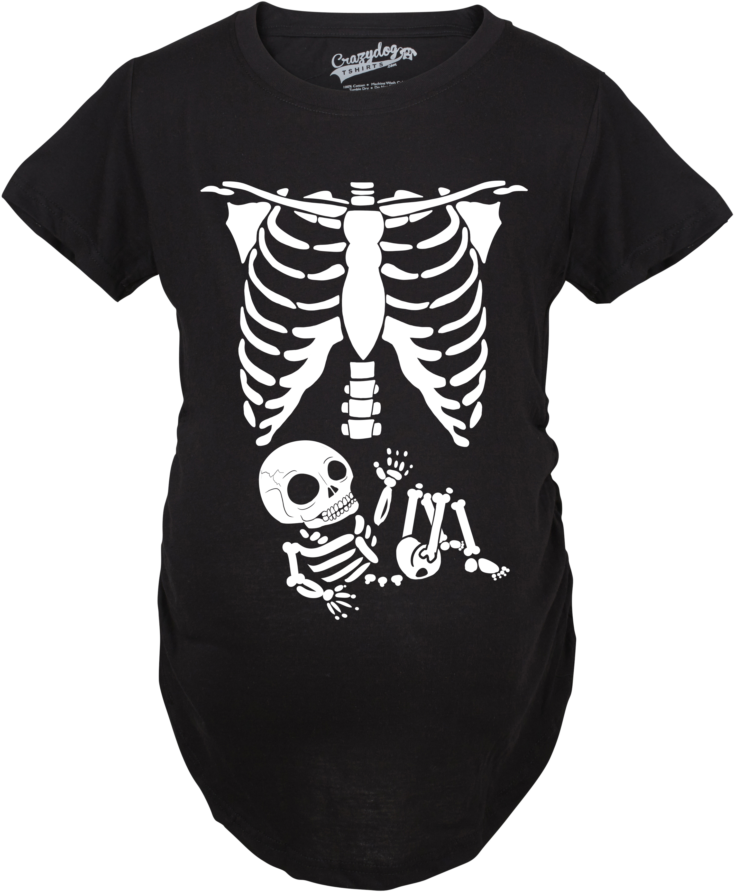 Crazy Dog TShirts - Maternity Skeleton Baby T Shirt Halloween Costume Funny Pregnancy Tee For Mothers