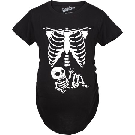Maternity Skeleton Baby T Shirt Funny Cute Pregnancy Tee For Mothers