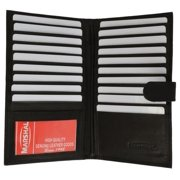 Genuine cowhide leather Multi Credit Card ID Holder with snap closure 1629 CF