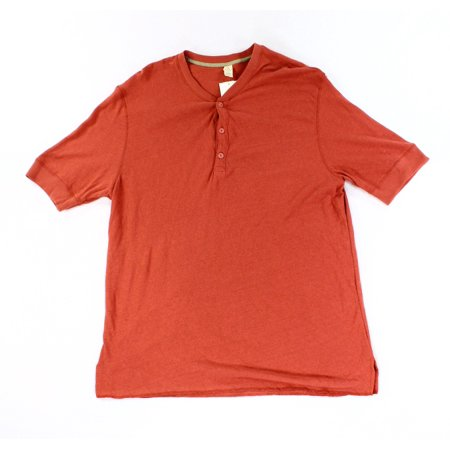 Alternative new red mens xl short sleeve ribbed henley for Mens xl tall henley shirts
