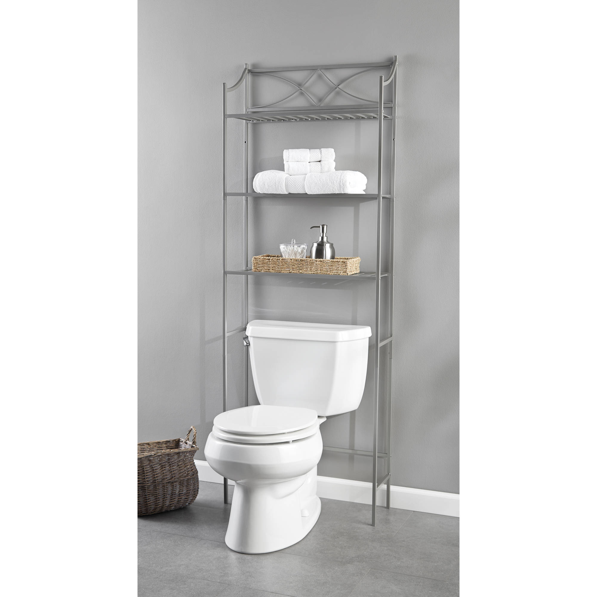 Chapter Lexington Park Bathroom Over-the-Toilet Space Saver, Satin Nickel
