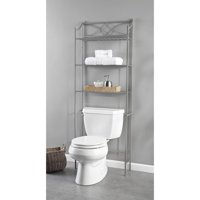 Chapter Lexington Park Over the Toilet Bathroom Storage Space Saver, Satin Nickel
