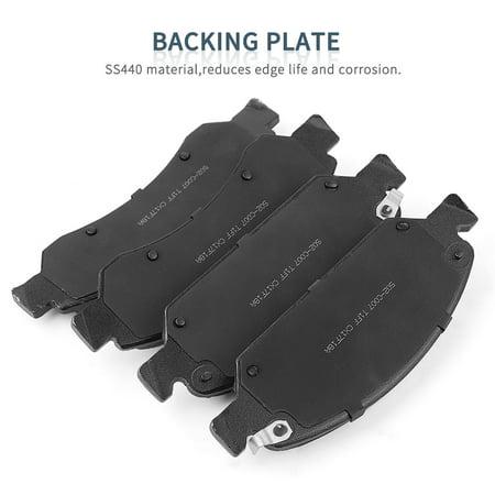 - Brake Pads Ceramic Front, Low-Dust Quiet Brake Pad Set for Chevrolet Tahoe Avalanche Silverado 1500, Chevrolet Suburban 2007-2013, GMC 1500 Sierra Yukon 2007-2013, Cadillac Escalade 2007-2013