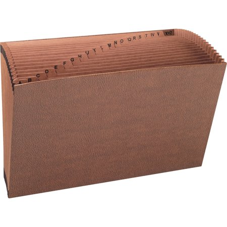 Smead, SMD70430, A-Z Simulated Leather No Flap Expnding Files, 1 / Each, (Leather File Case)