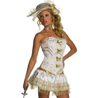 Sexy Musketeer Victorian Belle Of The South Womens Halloween Costume Set S-L
