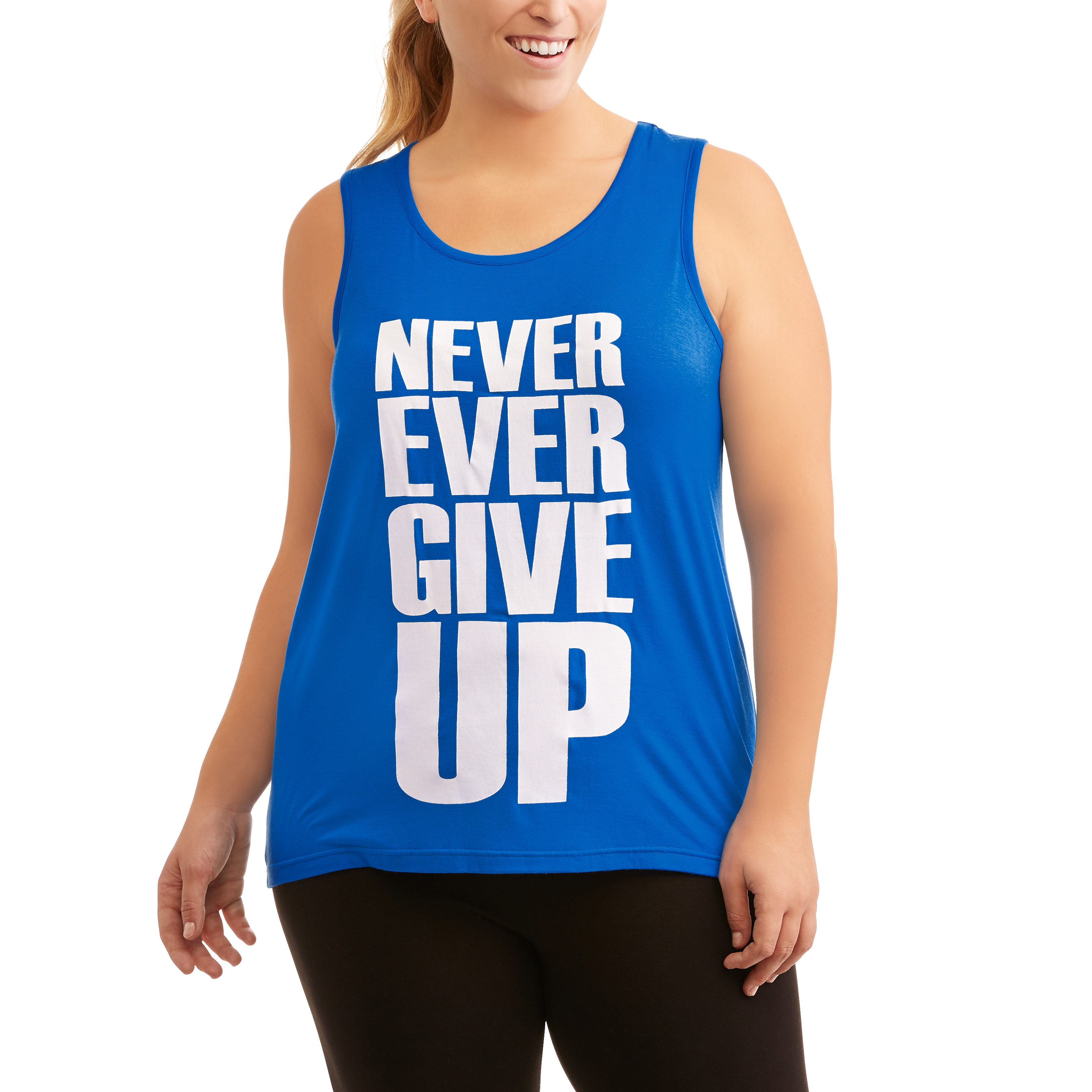 Women's Plus Fitspiration Active Graphic Tank