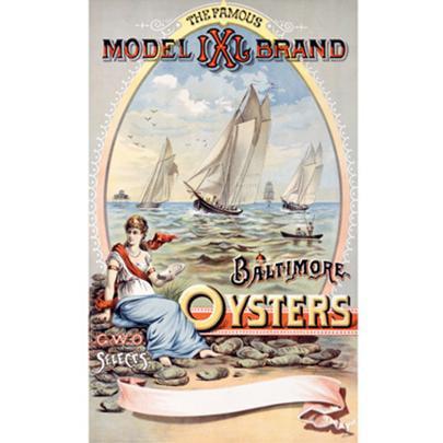 Artehouse Fine Art Print  Model Ixl Baltimore Oysters Ad   Archival Paper  18  X 24