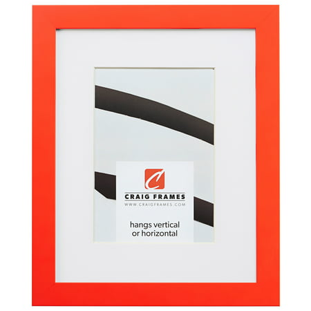 Craig Frames Confetti, 5 x 7 Inch Modern Orange Picture Frame Matted to Display a 4 x 6 Inch Photo ()