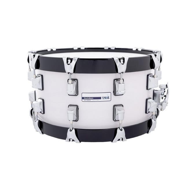 Taye SM1407SWB-TW 14 x 7 in. Studiomaple Woodhoop Snare Drum, Transit White & Black
