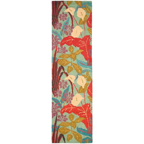 Safavieh Blossom Michelle Wool Runner Rug, Blue/Multi