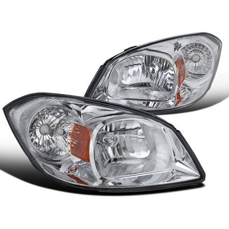 Spec-D Tuning For 2002-2010 Chevy Cobalt 2005-2006 Pursuit 2007-2009 Pontiac G5 Chrome Clear Headlights 2005 2006 2007 2008 2009 2010 (Left+Right)