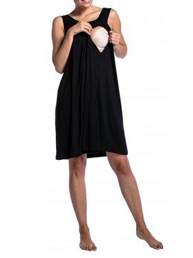 9957cc03b925f Product Image Jchiup Women's Maternity Sleeveless Hospital Nursing  Nightgown Breastfeeding Nightshirt Sleepwear
