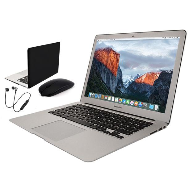 Apple Macbook Air Bundle [11.6 Inch Retina Display] [4GB RAM] [128GB SSD] Includes: Wireless Headset, Generic Case, Bluetooth Mouse & 1 Year Warranty (Refurbished)