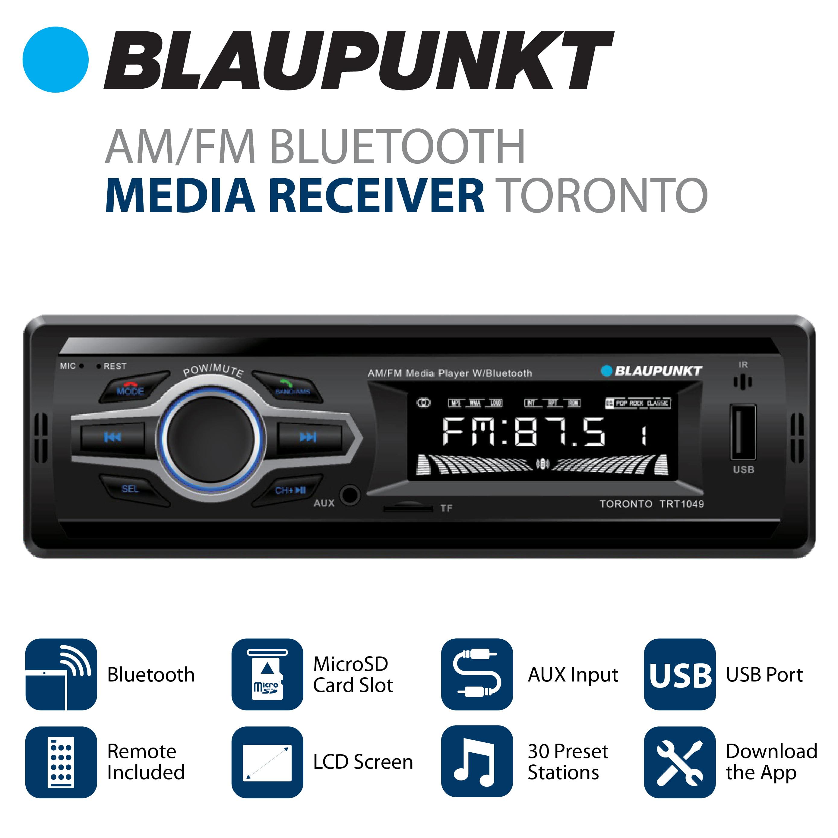 Blaupunkt AM/FM Bluetooth Media Receiver - Toronto - Walmart com