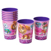 American Greetings PAW Patrol Girl 16oz Plastic Party Cups, 8-Count