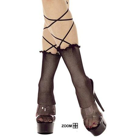Fishnet Tie (Sexy FishNet  Ankle hi w Lace)