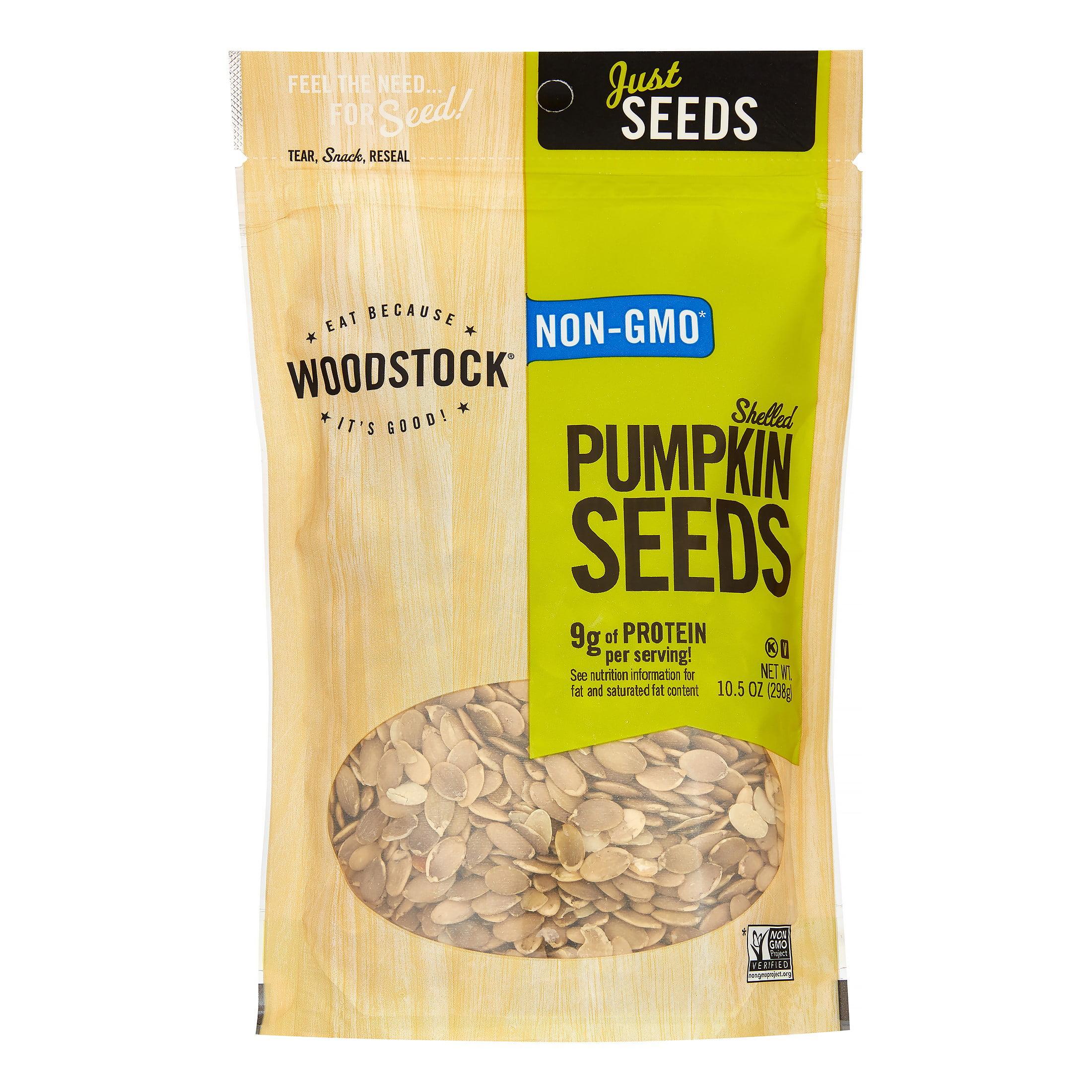 Woodstock Seeds - All Natural - Pumpkin - Pepitas - Shelled - Raw - 10.5 Oz