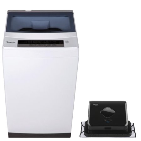 Magic Chef Ultimate Cleaner Bundle: Washer & Dryer + Robotic Vacuum ()