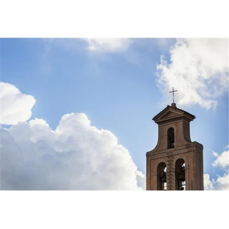 Posterazzi DPI12286817LARGE Cross & Bell Tower of A Church Against A Blue Sky with Cloud - Rome Italy Poster Print by Reynold Mainse, 38 x 24 - Large - image 1 de 1