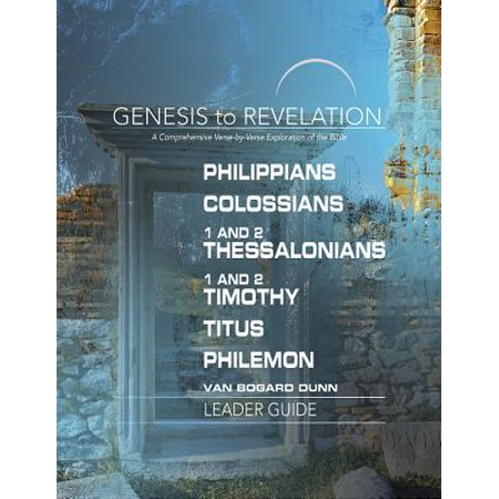 Bible Verses On Education (Genesis to Revelation: Philippians, Colossians, 1 and 2 Thessalonians, 1 and 2 Timothy, Titus, Philemon Leader Guide : A Comprehensive Verse-By-Verse Exploration of the)