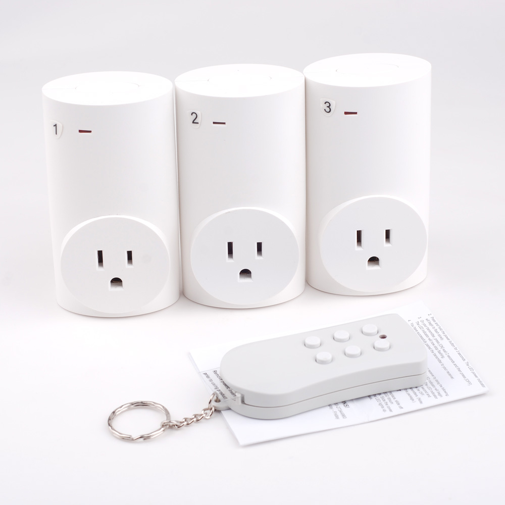 3 pack wireless remote control power socket outlet light. Black Bedroom Furniture Sets. Home Design Ideas