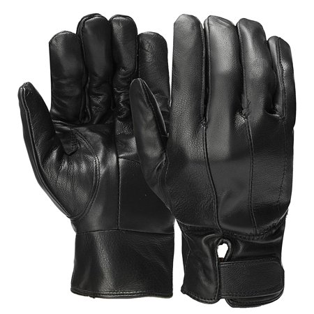 10x4 inch Mens Leather Gloves Fullt Lined Soft Winter Warm Driving Real Leather Driving Gloves