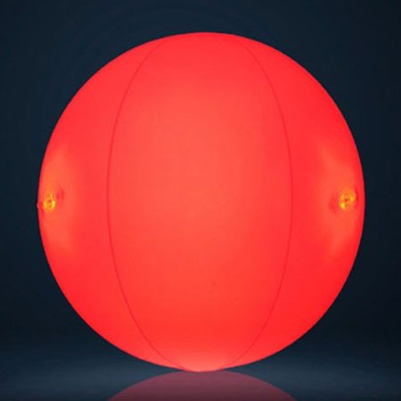 Koods light up led beach ball glow in the dark party - Glow in the dark swimming pool toys ...
