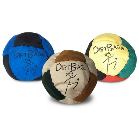 Dirtbag Footbag Hacky Sack 3 pack - Assorted colors