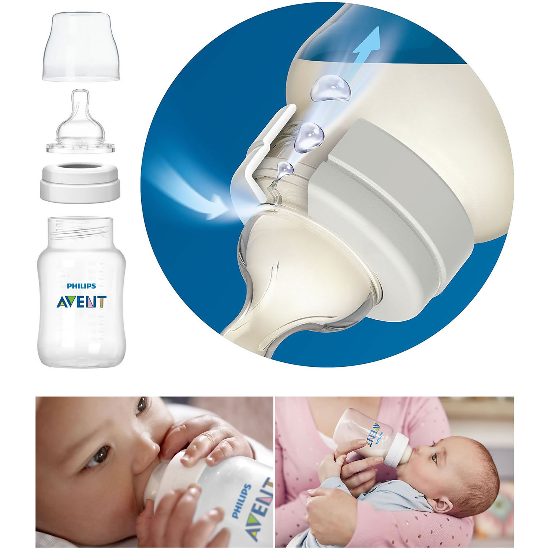 Philips Avent Anti-Colic Baby Bottle Newborn Starter Set, Clear, BPA ...