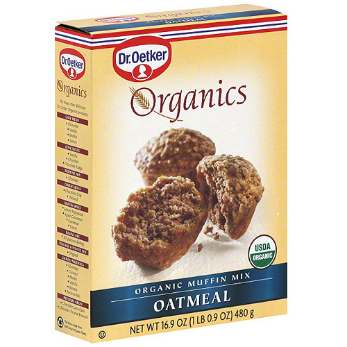 Dr. Oetker Organic Oatmeal Muffin Mix, 16.09 oz (Pack of 12)