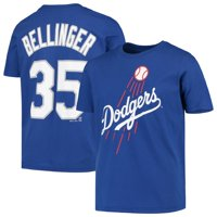 Cody Bellinger Los Angeles Dodgers Majestic Youth Player Cap Logo Name & Number T-Shirt - Royal