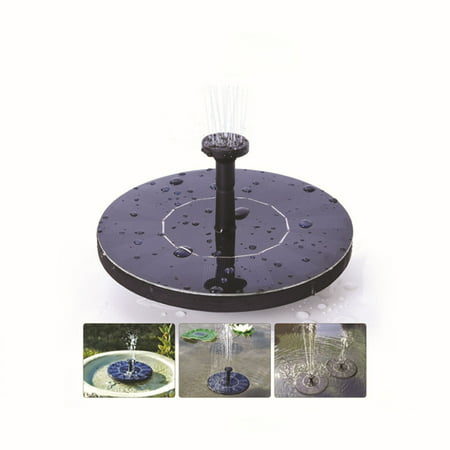 Solar Fountain Pump, Free Standing 1.4W Bird Bath Fountain Pump for Garden and Patio, Solar Panel Kit Water Pump ()
