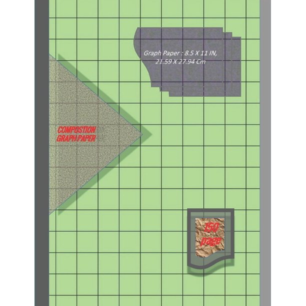 Graph Paper Notebook 8.5 X 11 IN, 21.59 X 27.94 Cm : 3/4