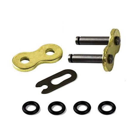2-Pieces Unibear 530 Motorcycle Chain O-Ring Connecting Link, Gold, Clip Type, Japan Technology,Wear