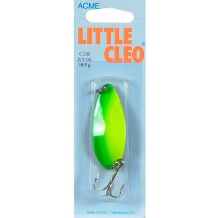 Acme Little Cleo Spoons - Acme Little Cleo, Chartreuse/Gold Stripe