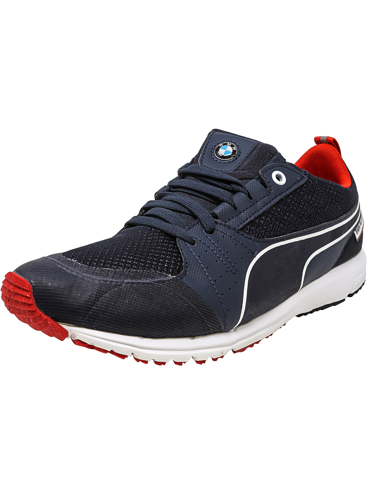 Puma Men's Bmw Motorsports Pitlan Team Blue / High Risk Red Ankle-High Fashion Sneaker - 10M