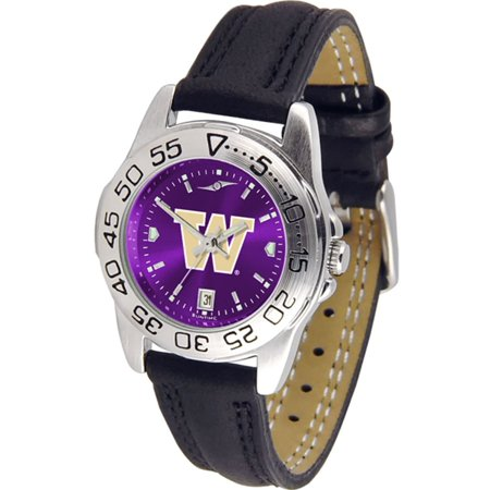 Huskies Sport Leather Band (Washington Huskies NCAA AnoChrome Sport Ladies Watch (Leather)