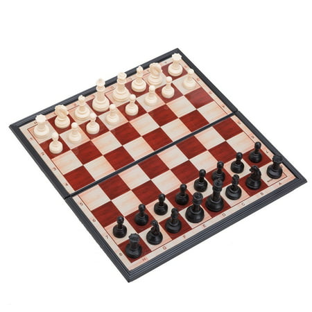THY COLLECTIBLES Magnetic Portable Holding Travel Chess Set Classic Black & White 7 x 7 Inch