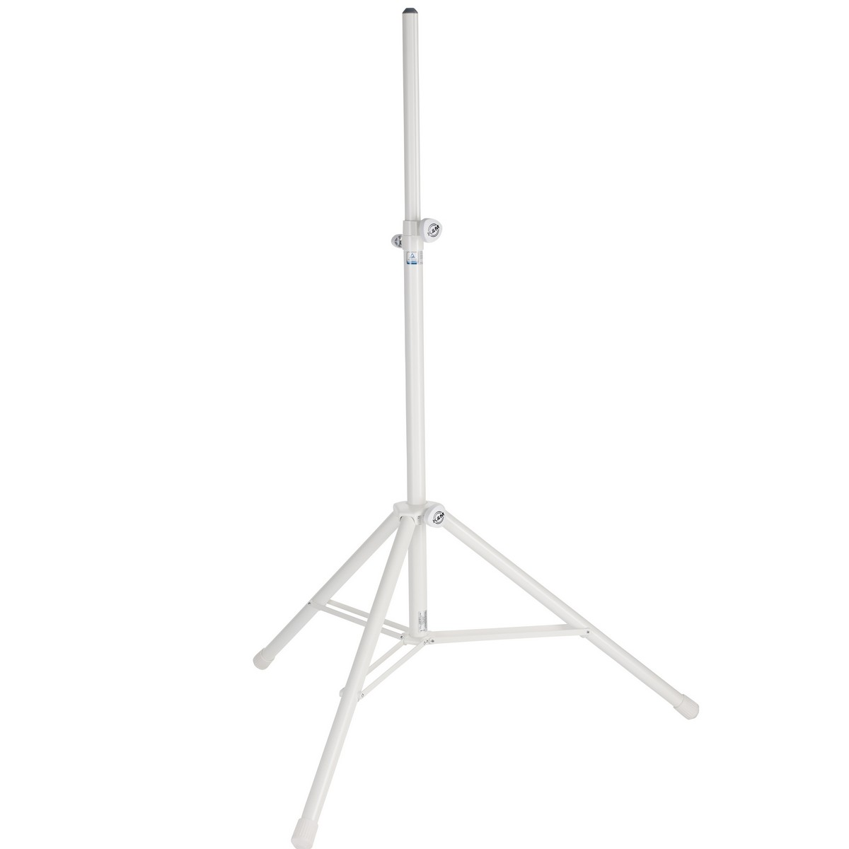 K&M K 214/6 | Two Piece Folding Speaker Stand Pure White