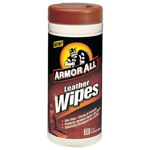 Armor All 10927/10881 Leather Wipes - 20-Pack