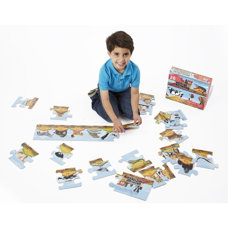 "Melissa & Doug Alphabet Train Floor Puzzle (Easy-Clean Surface, Promotes Hand-Eye Coordination, 28 Pieces, 120"" L x 5.75""W)"