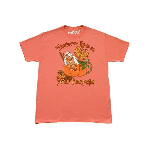 Inktastic Whatever Spices Your Pumpkin Fall Mermaid T Shirt Walmart Com Walmart Com
